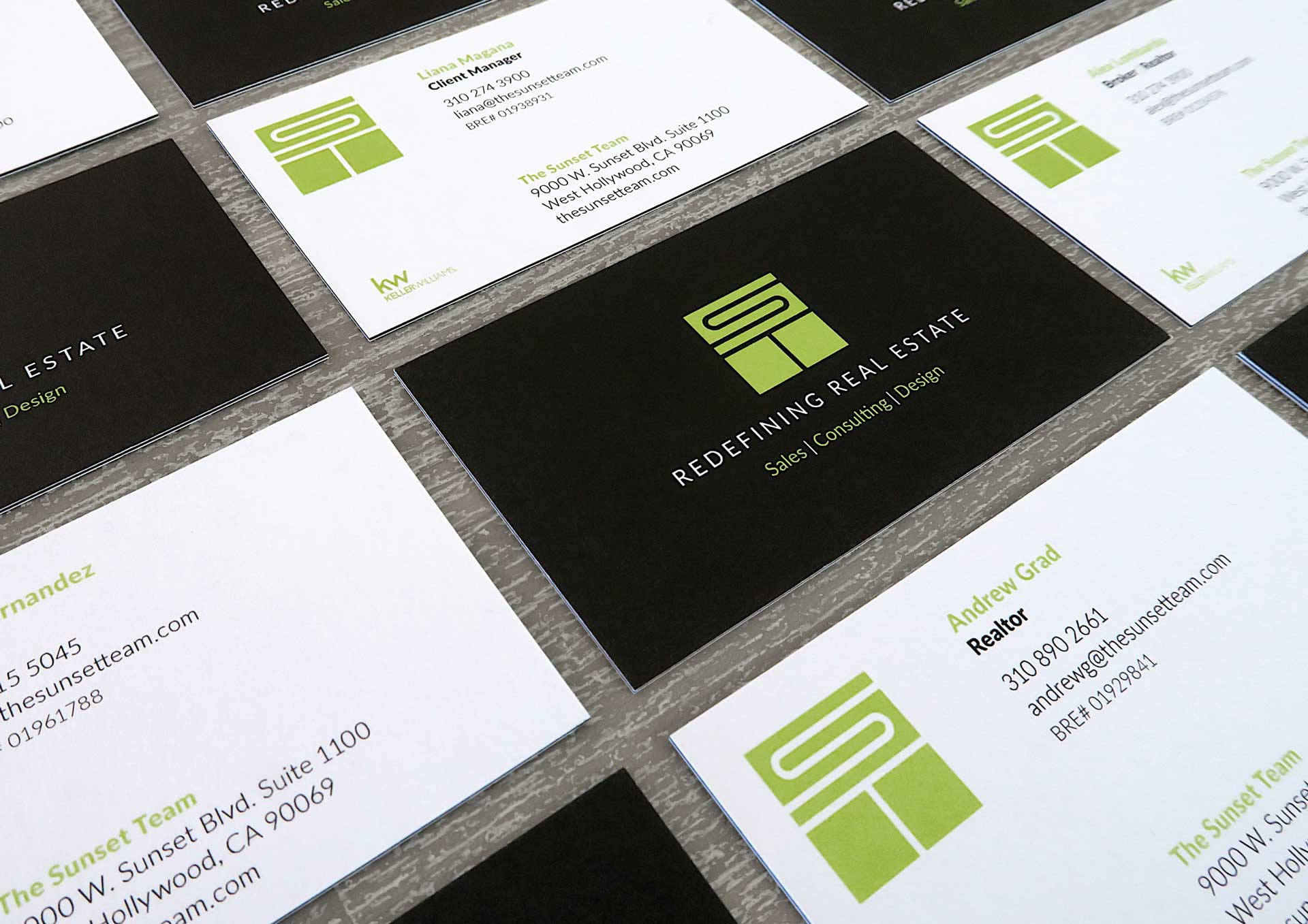 sunset-team-real-estate-business-cards